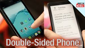 Rare Two Sided Phone Not Available In The Us Ces 2014 Youtube