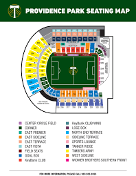 Pge Park Seating Chart Transportation Parking Portland Timbers