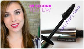 60 second review l oréal voluminous erfly mascara bailey b