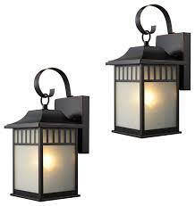 exterior light fixtures set of 2 oil rubbed bronze craftsman outdoor wall