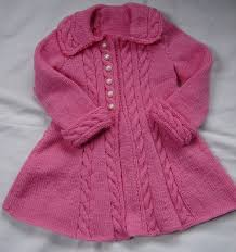 Hand Knitted Sweaters Designs For Baby Girl Baby Girls Toddler Sweater Coat Swing Style Hand Knit