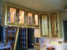 Rustic Log Kitchen Cabinets Hand Made Rustic Aspen Log Kitchen Cabinets And Built In Wall