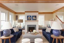 navy blue for seaworthy drama east coast beach living room