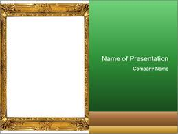 Picture Frame Powerpoint Template Smiletemplates Com