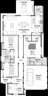 3 bedroom home design plans. Abode - Side Entrance 3 Bedroom Home Design Plans