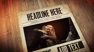 Newspaper Template After Effects Free After Effects Cs4 Template Living Newspaper Presentation