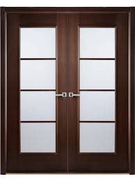 african wenge interior double door frosted simulated divided lite by arrazzini interior