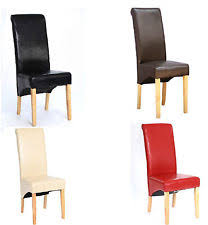 top high quality faux leather dining chair roll top scroll back seat furniture