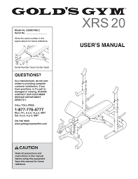 Xrs 20 Exercise Chart View Manual In Pdf Format Manualzz Com