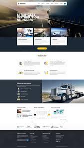 Cargo Web Design Trucking Transportation And Logistics Psd Template