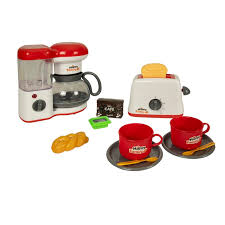 Multifunction 3 in 1 breakfast machine toaster oven electric pan coffee kitchen. Dollar Queen Deluxe Kitchen Play Coffee Maker And Toaster Appliance Set Reviews Wayfair