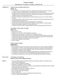 Sample Teacher Resume With Experience Child Care Teacher Resume Samples Velvet Jobs 30