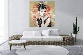 Wandbild Audrey Hepburn Wall Art ...