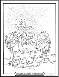 Bring on the holiday season by coloring this glorious set of coloring pages designed on the son of the first of the printable pages depict the baby jesus born in a stable in bethlehem. Jesus Christmas Coloring Page Children Shepherds Lambs
