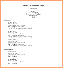 Personal Reference List Format Professional Reference List For Job Resume Orlandomoving Co