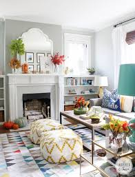 collection in colorful living rooms with white walls with top 25 best fall living room ideas