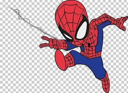 baby drawing cartoon spiderman