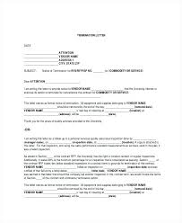 Employee Letter Of Termination – Resume Bank