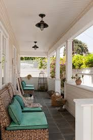 porch decorating ideas with beadboard bungalow cottage entrance entry garden accessories lanterns outdoor cushions outdoor lighting patio furniture