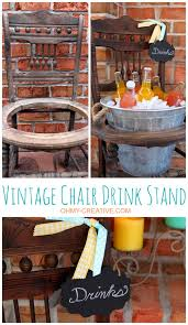 furniture repurpose ideas. Repurpose An Old Vintage Chair Into A Pretty Drink Stand Using Galvanized Bucket Perfect Furniture Ideas