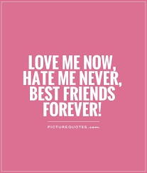 Quotes About Friendship Forever Custom Love Me Now Hate Me Never Best Friends Forever Picture Quotes