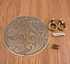 A Chinese Style Round Fancy Door Handle Copper Hardware Fittings Cabinet  U0026 Window Handles