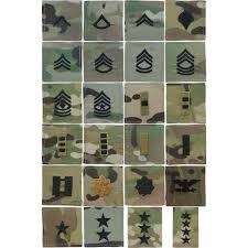 Ocp Pattern Impressive MultiCam OCP US Army Military RipStop Rank Insignia Patch USA Made
