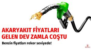 Akaryakıt fiyatları zamlarla coştu! Benzin fiyatları rekor seviyede -  Ekonomi haberleri