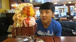Image Man Youtube Massive Kitchen Sink One Gallon Ice Cream Sundae Challenge