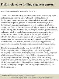 Drilling Engineer Sample Resume Amazing Top 40 Drilling Engineer Resume Samples