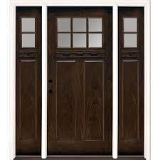 fiberglass doors front doors the home depot fiberglass entry door with sidelights