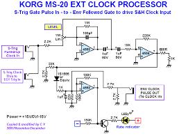 korg ms 20 midi clock sync mods cykong com ms 20 ext clock processor schematics