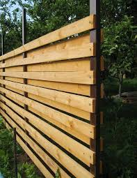 horizontal wood fence with metal posts. Delighful Horizontal Horizontal Plank Fence With Metal Posts Throughout Wood With