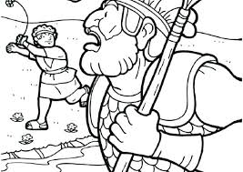 David And Goliath Coloring Page Printable Pages Pdf Color Porongurup