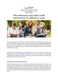 how admissions essay editors make improvements in admissions  how admissions essay editors make improvements in admissions essays