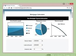 home loan interest calculator excel 3 ways to calculate mortgage interest wikihow