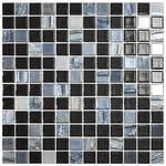 <b>Стеклянная мозаика Vidrepur</b> Astra Black Черный (на сетке) 31 ...