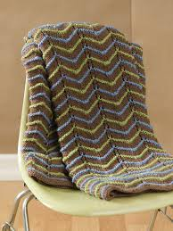 Knitted Afghan Patterns Best EarthTone Knit Afghan FaveCrafts