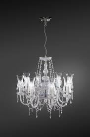 Tulip 4 Light Floor Lamp 8 Lights Chandelier With Tulip Shape Glass Diffusers