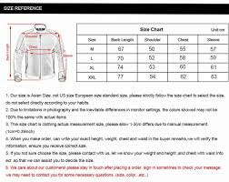 Oxford Jacket Size Chart Duhan Mens Motorcycle Jackets Oxford Cloth Motocross Off