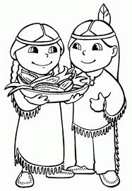 Small Picture Kids Thanksgiving Coloring Pages Of Indians Holidays Coloring