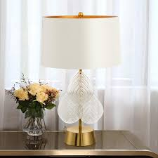 2019 american leaves table lamps for living room white glass ball table light iron tripod milky round ball desk lamp reading from lvzhilamp