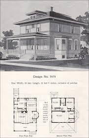 interior prairie box american foursquare 1908 radford plan no 7079 expert house plans nice 4