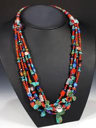 <b>Daniel</b> Coriz Santo Domingo <b>multi</b> stone <b>necklace</b>. Pueblo Direct.com