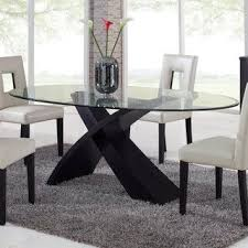 dining room tables oval. Fine Room Global Furniture Exclaim Oval Glass Dining Table  Modern Dining Tables  By Hayneedle For Room Tables Q