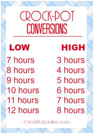 Oven To Slow Cooker Conversion Chart Crock Pot Faqs Answering Your Crock Pot Questions