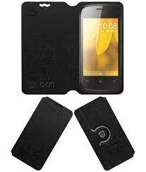 Celkon A75 Flip Cover by ACM - Black ...