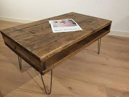 reclaimed rustic solid pine box coffee table