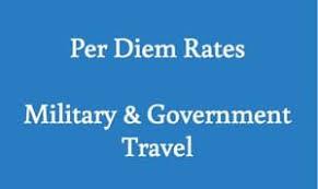 Per Diem Chart Per Diem Rates Military Government Travel