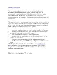 cover letter examples of good cover letters examples of good cover what should be in a good cover letter